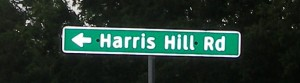 Harris Hill Road sign