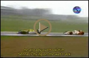 Donington Park - Senna\'s flying!
