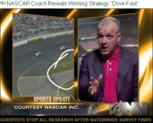 Drive Fast Strategy in NASCAR video spoof