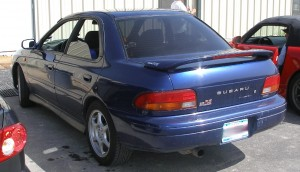 Travis\' Subaru 2.5 RS - rear view