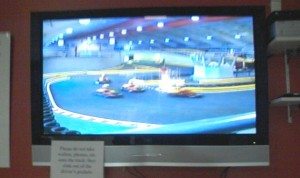 Kart racing video SO fast the camerphone only got a blur