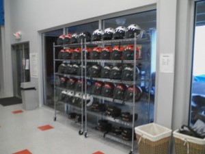 Helmet & other safety equipment racks