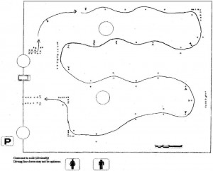 August 7, 2008 Autocross Course Map