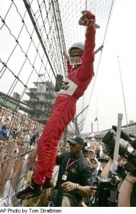 Helio fence climbing at Indy