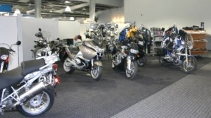 Some of the motorcycle showroom display
