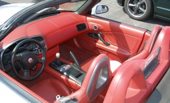 Blood-red interior