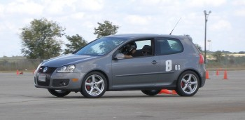 Paalo\'s GTI at speed on a sweeper