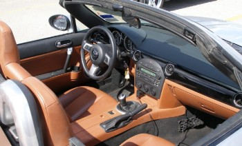 Cockpit swathed in creamy leather - looks comfy