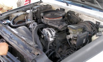 The S-10 engine bay detail
