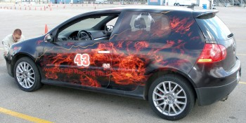 Dak's flame job VW GTI