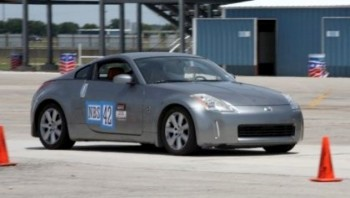 Steven's 350Z at SPOKES autocross @ SAR in July 2008
