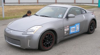 Steven's 350Z at SPOKES autocross @ SAR in 11/2008
