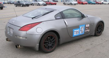 Steven's 350Z ready to compete at SPOKES autocross @ SAR in 11/2008