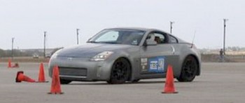 Steven @ speed (picture courtesy of Jerry C, my autocross mentor)!