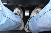 Big shoes on big feet hinder good autocross footwork!