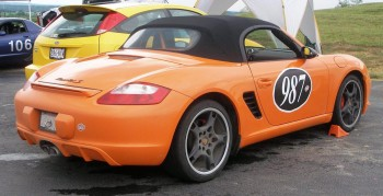 The Porsche LE Boxster S between sessions...