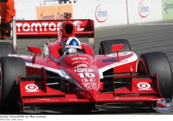 Dario Franchitti on the Infineon Raceway course