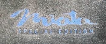 Distinct Special Edition floor mat embroidery