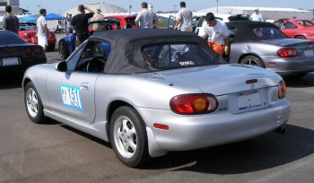 There were over 70 competitors at this autocross!