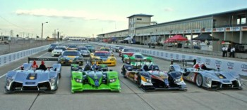 GT & LMP race cars at Sebring 2009