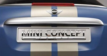 Mini Performance Coupe - rear plate