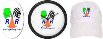 Racing Ready logo products sample