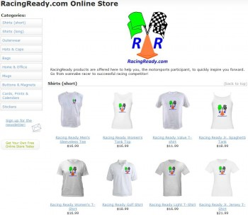 Teaser image of the RacingReady.com Online Store