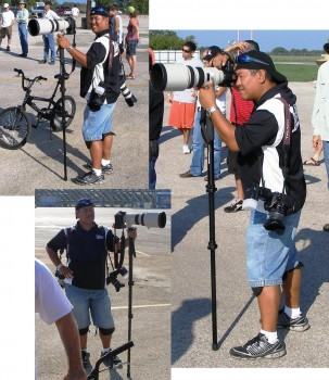 Candid shots of Tony Morano - professional photographer in action!