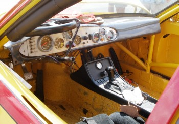 "The ""business"" area of the Porsche cockpit"
