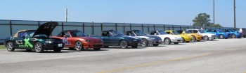 Mostly Miatas here, others marques were elsewhere...
