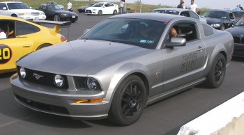 "Edward's 2008 Mustang GT debuting his stealthy alloy 18"" wheels..."