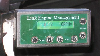 Link Engine Management, the dash mounted ECU controller - John can make changes on the fly!