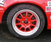 "Wet track tire/wheel combo - Dunlop Direzza DZ 101/15"" painted alloy wheel"