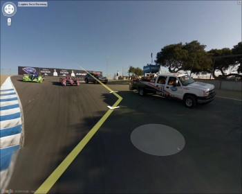 "Mazda Laguna Seca Raceway on Google Maps - coming out of the ""Corkscrew""!"