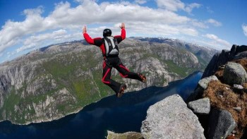 BASE jumping thrill