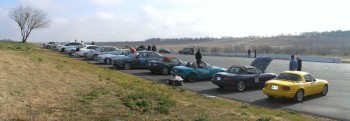 H2R Gymkhana Panorama with Santa Rita turn in the background