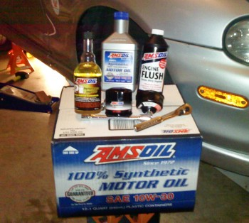 Some of the AMSOIL products that will be going into my Miata, Karlino
