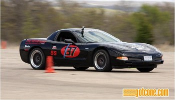 Eric driving Jay's Z06, again, at the SCCA TX Tour Nat'ls, by gotcone.com