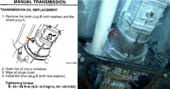 Miata transmission fill plug nut - line drawing vs. reality