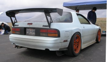 The 1988 RX-7 Efini, rear 3/4 view...