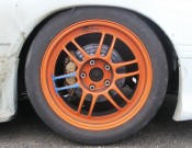 Toyo tires racing rubber on orange rims...