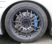 Nitto tires on nice Volk Racing rims - great for the track!