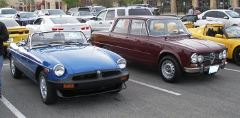 Vintage European Iron, an English MGB & an Italian Alfa-Romeo - sweet & sweet!