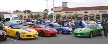 A colorful groupng of Vipers - lots of concentrated horsepower here!