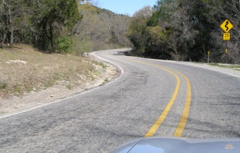 Hill Country Road - it's starting to get curvy!