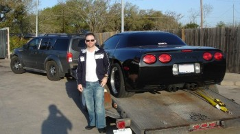 Jay's Pathfinder, 2003 Z06 Corvette (Vader) & trailer to go...with Jay!