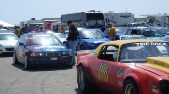 Just some of the pre-competitive masses on the pre-practice grid.