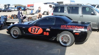 Another shot of Jay's 2003 Z06 Corvette, now ready for competition.