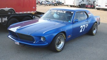 Mark's classis vintage Ford Mustang, ready to compete!