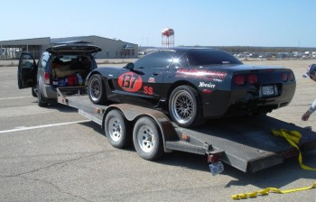 Jay's Z06 Corvette is trailer parked & ready to return home!